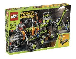 LEGO Power Miners Titanium Command Rig (8964) by LEGO. $173.99. Titanium Command Rig in vertical position measures 13 inches (33cm) long by 8 inches (20.3cm). Features 1 red rock-throwing monster, 1 blue rock monster and 3 minifigures (1 scientist, 1 Power Miner and 1 boss miner). Contains 706 pieces. Wide by 17.5 inches (44.5cm) tall; red rock throwing monster measures 2.5 inches (6.4cm) tall. Cage and crane for holding rock monsters and laboratory for examining them. Planetar...