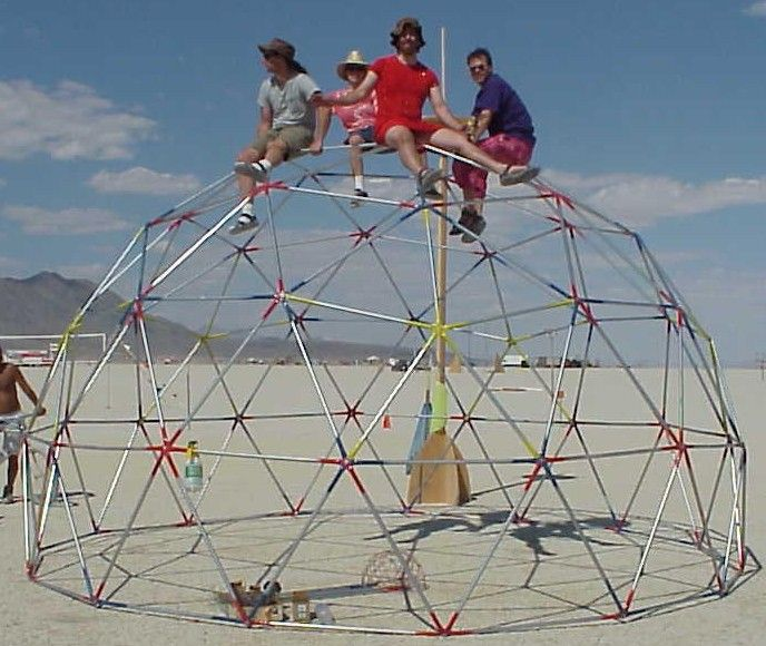 2x6 Heavy Duty Wood Geodesic Hub Kit: 16 Foot, 3 Frequency Dome