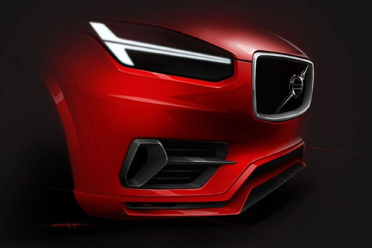 Volvo XC 90 - Design Sketch - Car Body Design