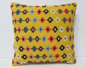 ethnic bedding 18x18 modern pillow case primitive home decor kilim pouf pillow wool rug large throw pillow house decorating kilim rug 23647