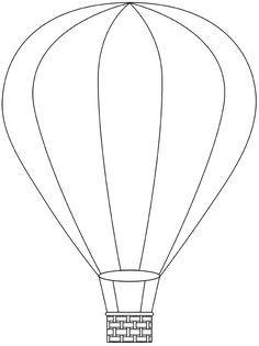 Dibujo de globo aerostático Más