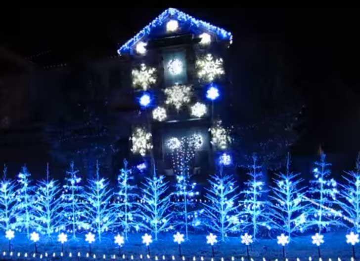 Este juego de luces inspirados en la película Frozen hará volar tu cabeza