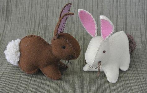 Felt Bunny - free tutorial by  Creativity in Pieces cutesy