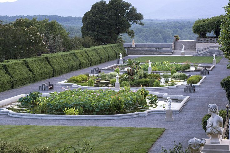 Landscape architect Frederick Law Olmsted, the mastermind of New York's Central Park, designed the gardens and grounds cradling the 250-room Vanderbilt estate in Asheville, North Carolina. Photo courtesy of The Biltmore Company.