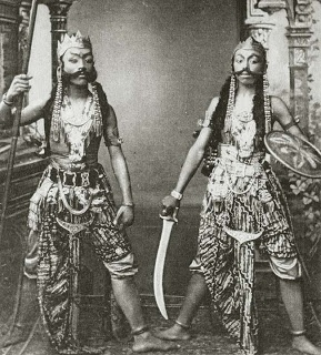 Javanese Warrior Spearman & Swordsman (c. 1910 CE Java)