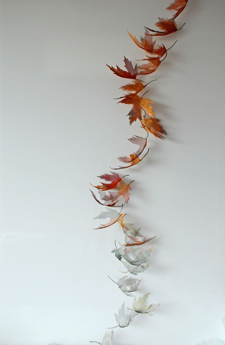Original artwork hand-cut from ultra-fine woven metal and inspired by elements of nature. By Michelle McKinney, UK.