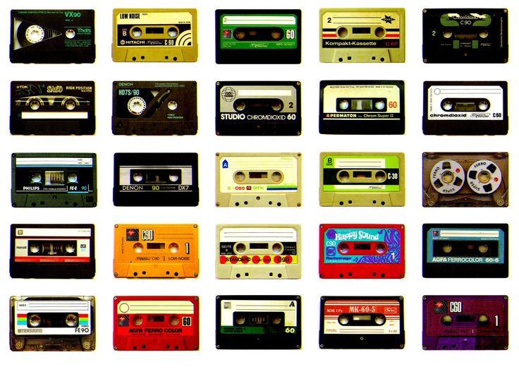 80s wallpaper - cassetten