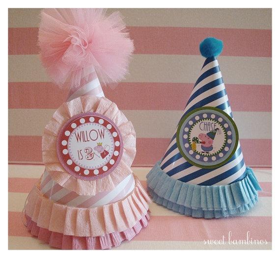 Peppa Pig Party Hat by sweetbambinos on Etsy, $10.00 #YoYoBirthday