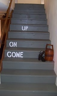 cool painted stairs