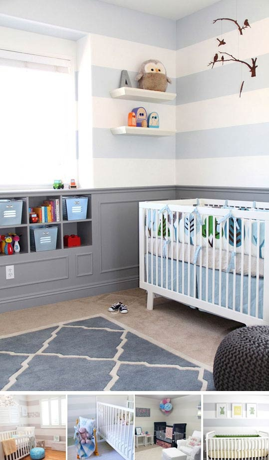 Cool design trends for kids rooms - going to steal some ideas for our twin boys
