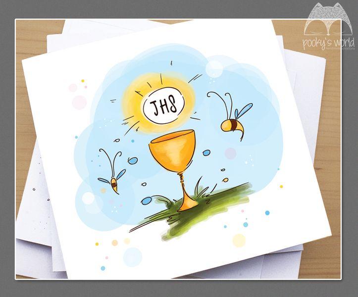 Karteczka z okazji Komunii Świętej - pookysworld - Kartki miłosne