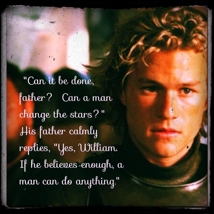 the film a knights tale A knight's tale is the sophomore directorial effort of acclaimed screenwriter brian helgeland, who won an oscar for his work on la confidential (1997) and debuted behind the camera with the.