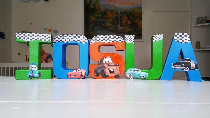 Nursery letters name boy cars