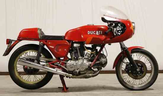 1974 Ducati 750SS green frame