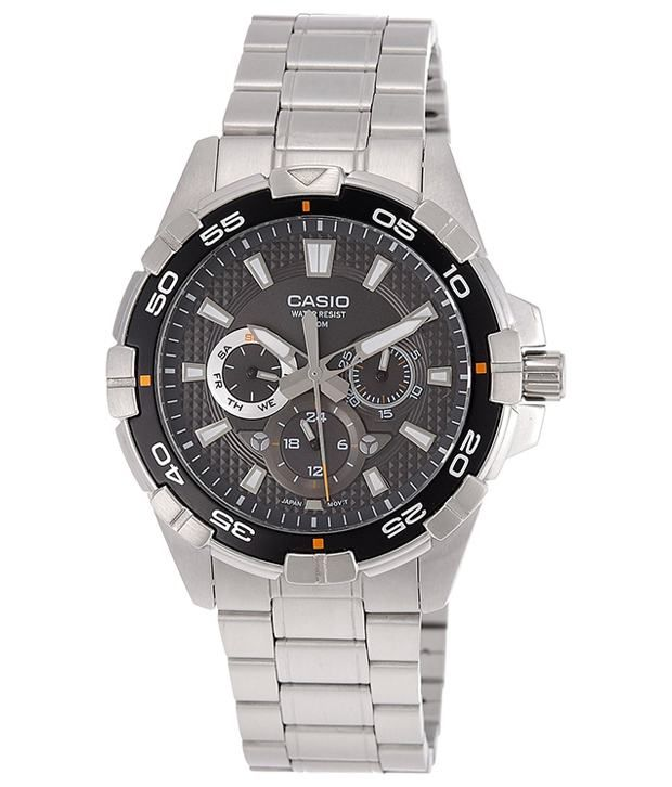 Casio A657 Analog Men Watch, http://www.snapdeal.com/product/casio-black-sporty-dial-steel/89786