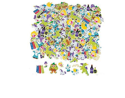 Fabulous Foam Adhesive Magical Creatures Shapes (80+).  Give crafts, artwork, notebooks, posters, signs and more a touch of fairy tale fun with our foam self-adhesive shapes. Fun and easy to do, just peel off the backing to make 'em stick! Assorted styles. 1.27 cm -  5.1cm  (80+ pcs)