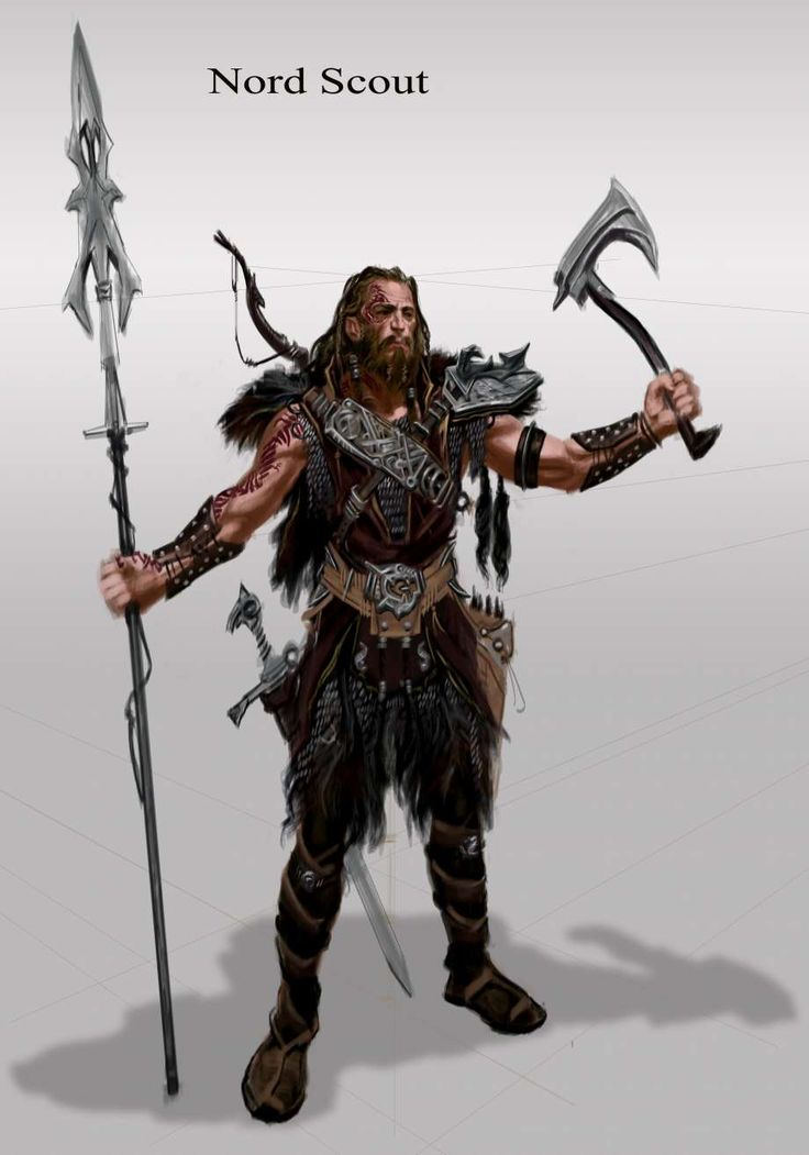 Nord Armor Male concept art from The Elder Scrolls V: Skyrim by Adam Adamowicz