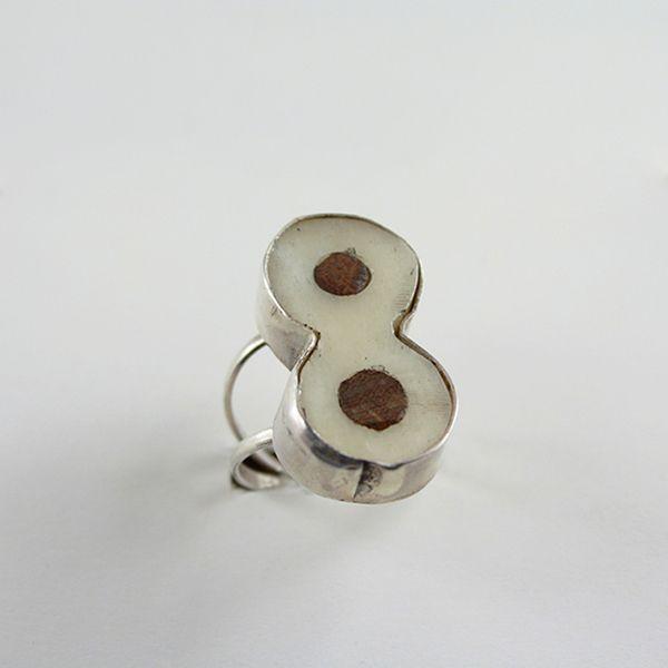Kemikli Gümüş Yüzük (Silver ring with bones) - ZFRCKC Jewelry Design - www.zfrckc.com