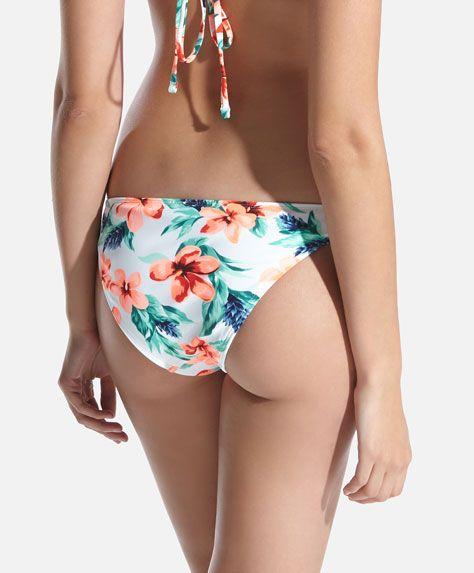 Bikini-Shirt tropische Blumen - OYSHO