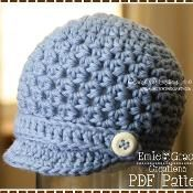 Newsboy Hat Crochet Pattern - HAMILTON - via @Craftsy