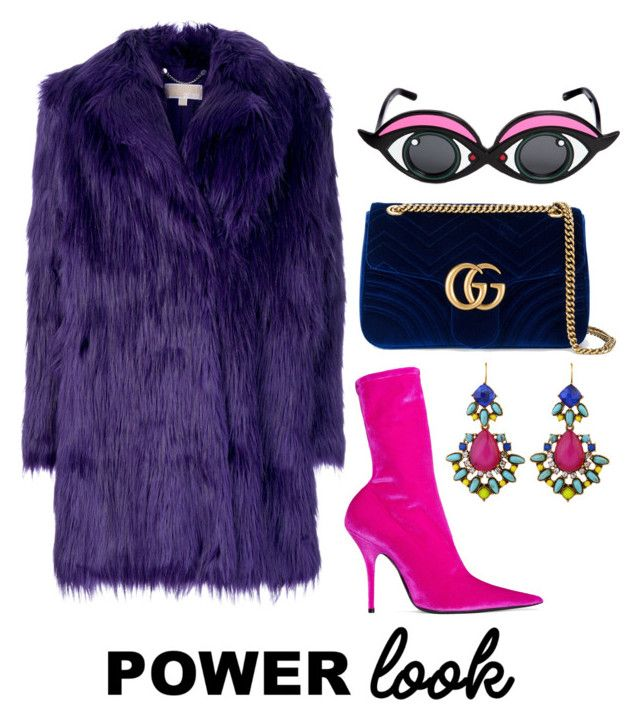 """""""Power Look"""" by zoe-keredy ❤ liked on Polyvore featuring MICHAEL Michael Kors, Balenciaga, Linda Farrow and Gucci"""