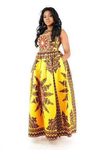 Coco African Maxi Dress - HouseOfSarah14