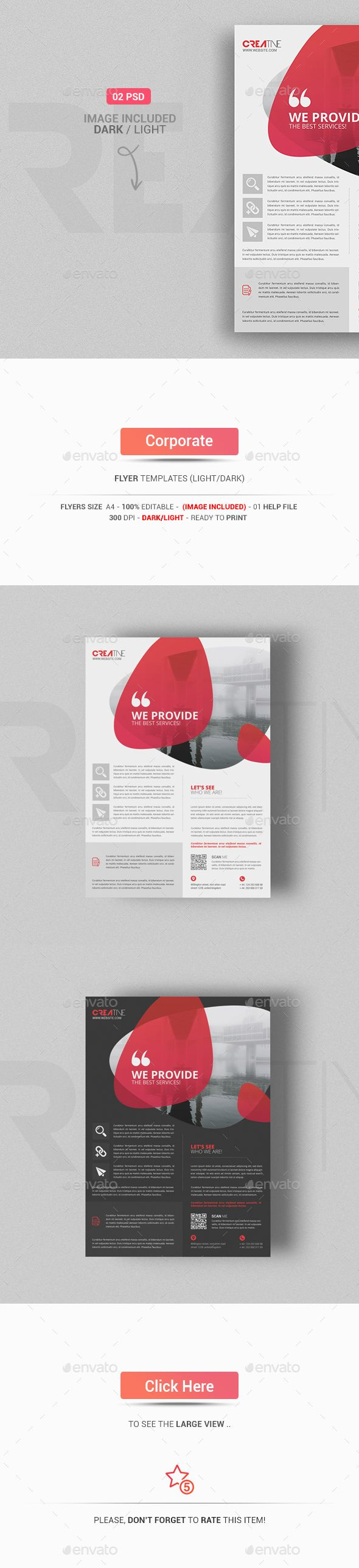 Corporate Flyer Template PSD #design Download: http://graphicriver.net/item/corporate-flyer/13498816?ref=ksioks