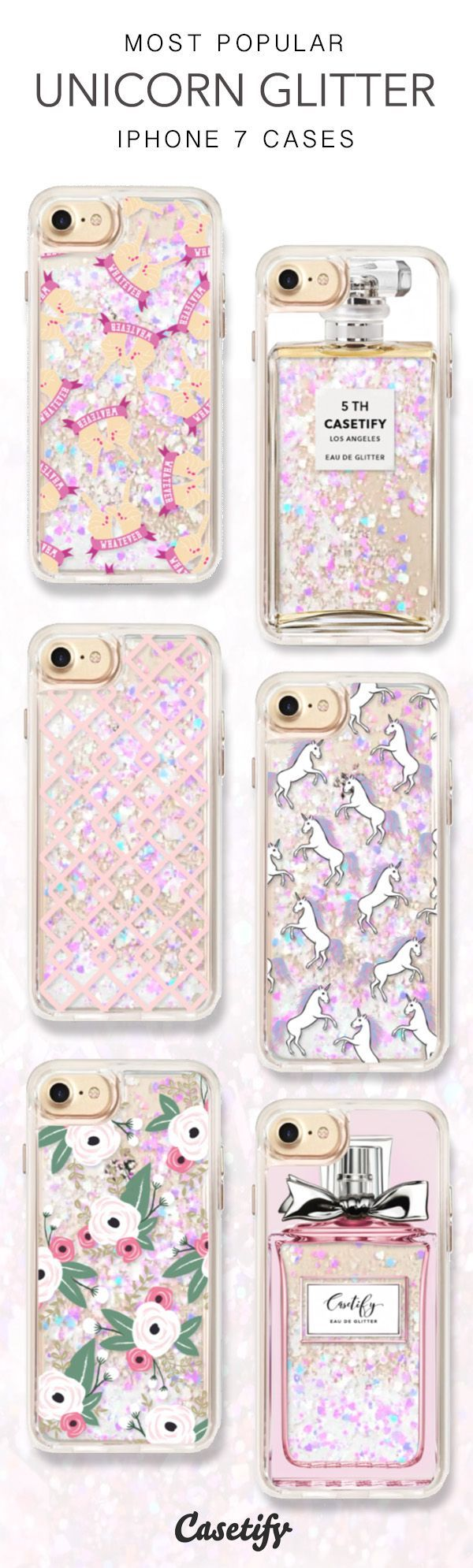 Most Popular Unicorn Glitter iPhone 7 Cases here > https://www.casetify.com/collections/iphone-7-glitter-cases#
