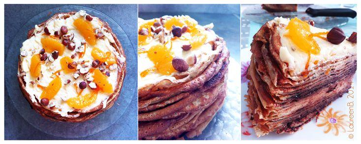 Happy chandeleur ! Gâteau de crêpes.