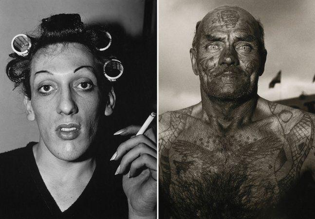 """A fronteira entre a repulsa e a atração muitas vezes é tênue e difícil de demarcar. No caso do trabalho da fotógrafa Diane Arbus, essa fronteira simplesmente não existe. Nos anos 1960 e 1970, Diane se especializou em virar sua câmera justamente na direção dos personagens dos quais todos desviavam o olhar - os """"anormais"""", os marginalizados, aqueles que a sociedade rejeitava. Travestis, artistas de circo, anões, gigantes, nudistas, pessoas cobertas de tatuagens, deformidades físicas, marginais…"""