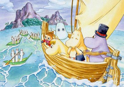 Hattifatteners, Little My, Moomin, Snorkmaiden, Moomin Mama, Moomin Papa. =)