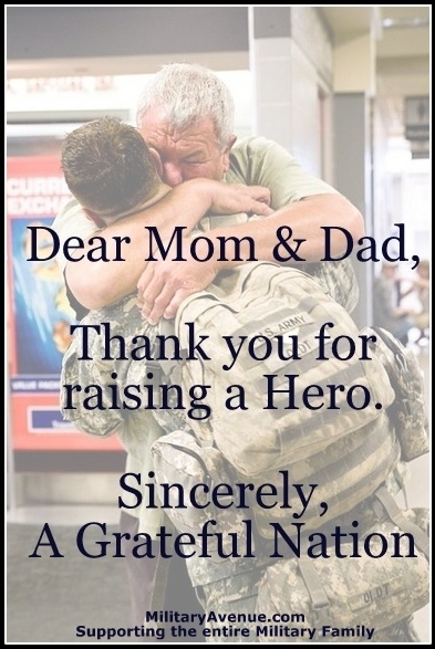 Raising your child to become a soldier is one of the hardest things to do. But some of us are just born that way and must go to protect the rest of us. I'm proud of my children and thank them for protecting me.