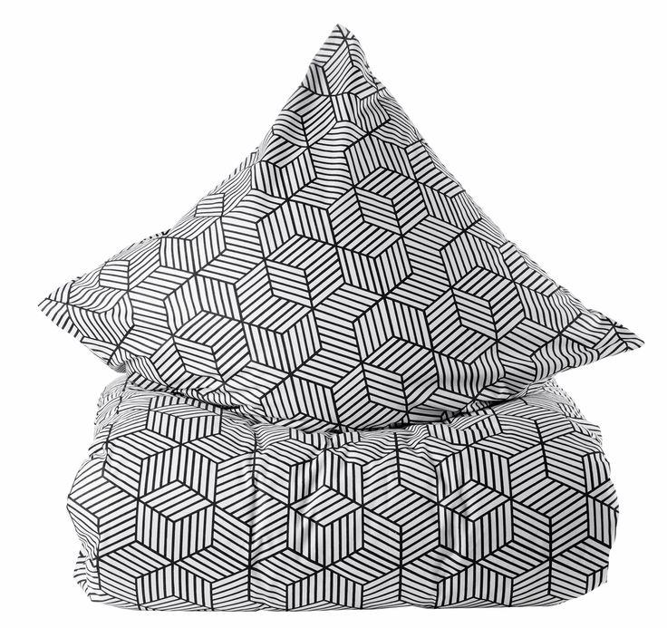 Marie Sohl sengetøj - Steps sort/hvid  199 kr.  Set i Bilka