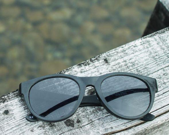 Glasses made from ocean plastics by Karün