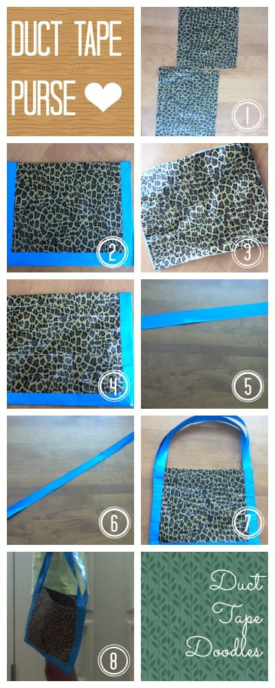 Duct Tape Purse step by step