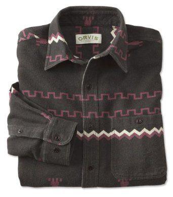 Amazon Com Orvis Men S Flannel Native American Shirt