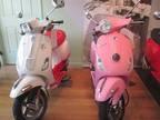 Hot Pink & White or Powder Pink Vespa - Adorbs!!! I'll take both, please.