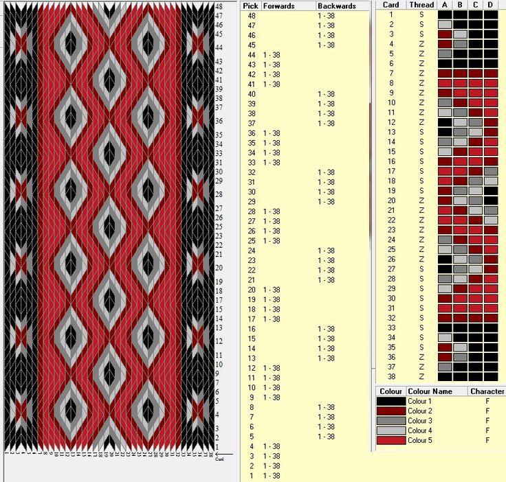diseño 38 tarjetas 5 colores alterna 4 movimientos hacia