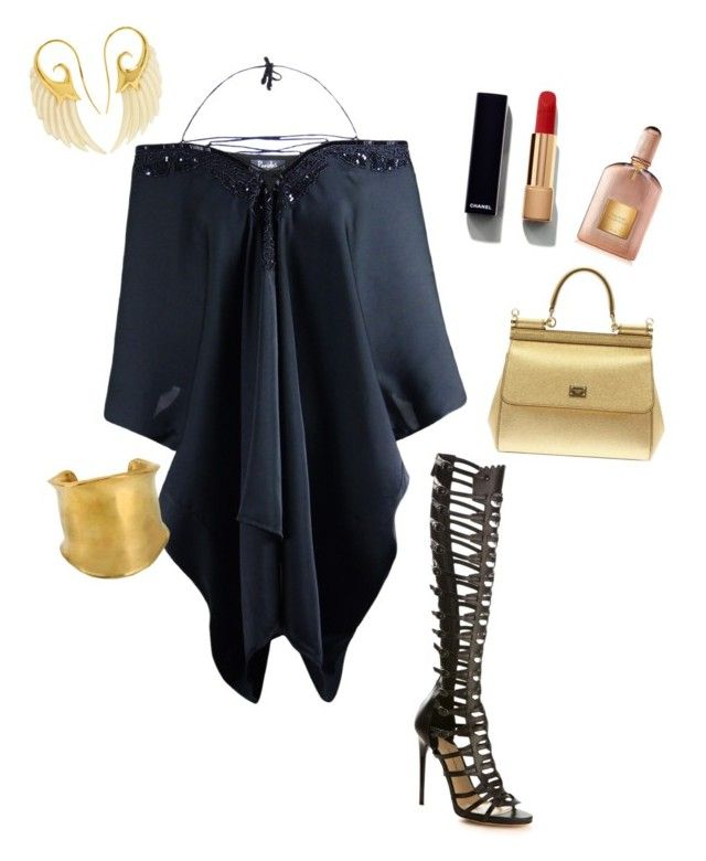 """""""Romana"""" by jangiraldo on Polyvore featuring moda, Paul Andrew, Chanel, Tom Ford, Dolce&Gabbana, Emilio Pucci y Noor Fares"""