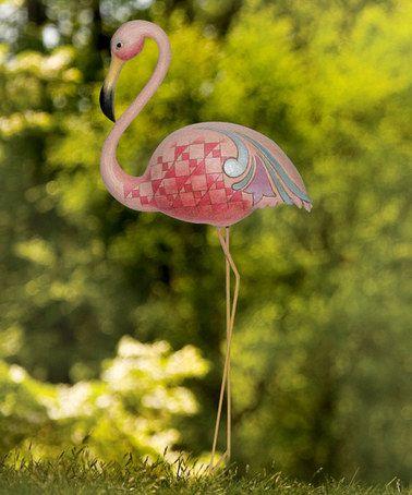 I love love love Jim Shore.....  #zulily! Flamingo Garden Stake #zulilyfinds