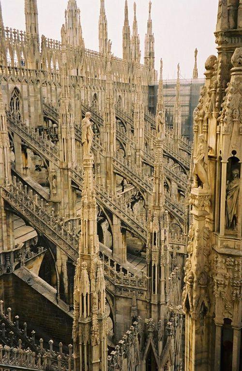 Duomo di Milano Cathedral in Milan, Italy.
