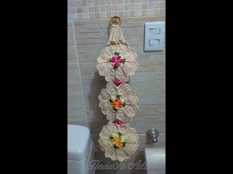 Porta papel higiênico Croche DIY - YouTube
