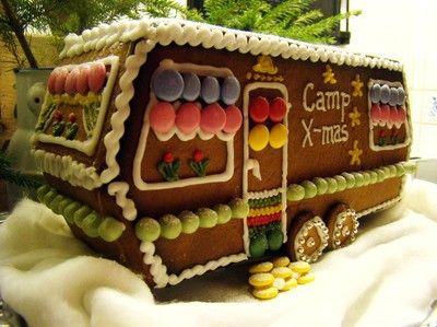 camper gingerbread house