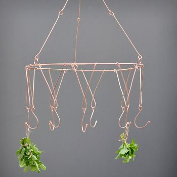 Small chandelier in copper finish
