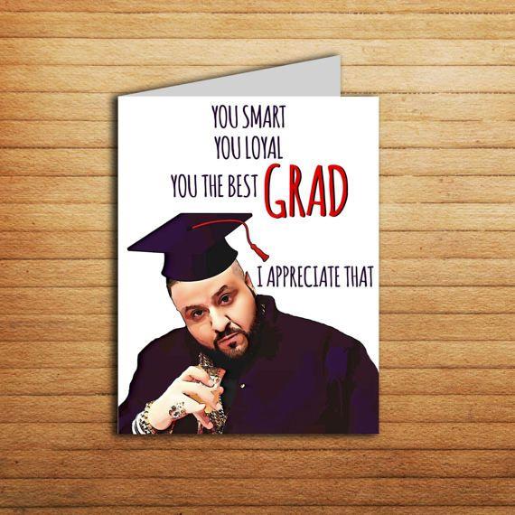 DJ Khaled Graduation Card Printable Funny Graduation Card