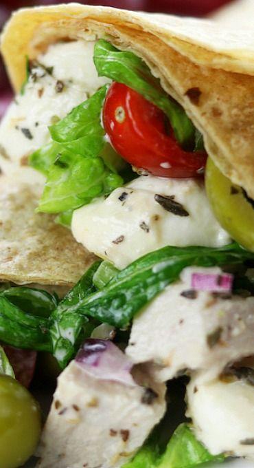 Creamy Italian Chicken Salad Wraps