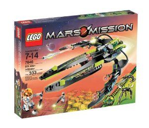 """LEGO Mars Mission ETX Alien Infiltrator by LEGO. $104.99. Open the mining robot to put an astronaut at the controls. Mining robot has a drill, tools and measures 4"""" (10cm) tall. Contains 333 pieces. Convert the attack ship into a combat walker, attack ship measures 13"""" long; when in combat walker mode it?s over 8"""" tall. Includes alien, alien commander and two astronaut minifigures. From the Manufacturer                Careful, astronaut – your scanners may de..."""