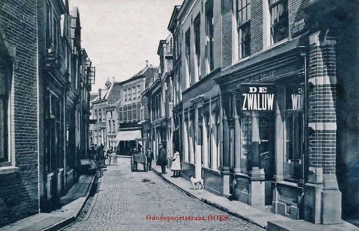 Ganzepoortstraat Goes (jaartal: 1900 tot 1910) - Foto's SERC