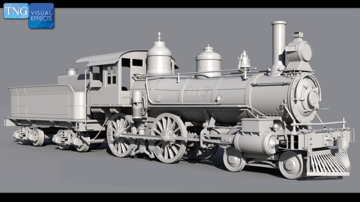 Stitched up scan of a model train by Nick Tesi.