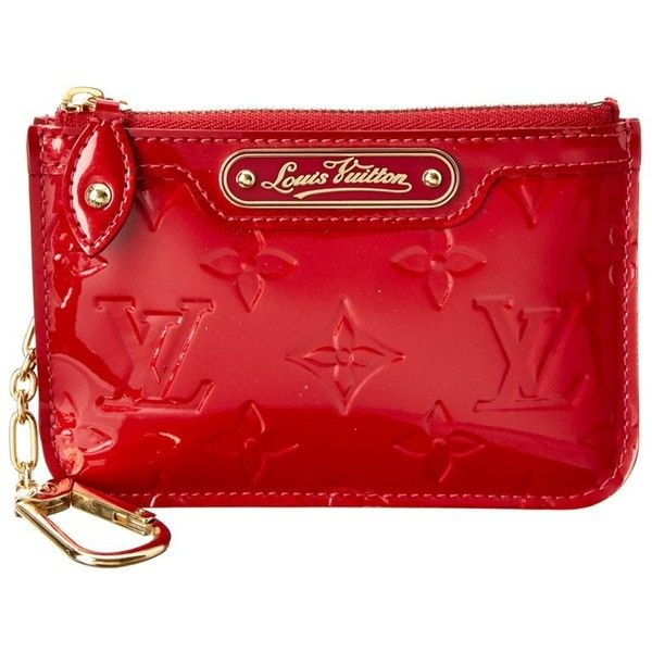 Louis Vuitton Pre-Owned Louis Vuitton Red Monogram Vernis Leather Key... ($345) ❤ liked on Polyvore featuring accessories, nocolor, louis vuitton, key pouches, key purse and key bag                                                                                                                                                                                 More
